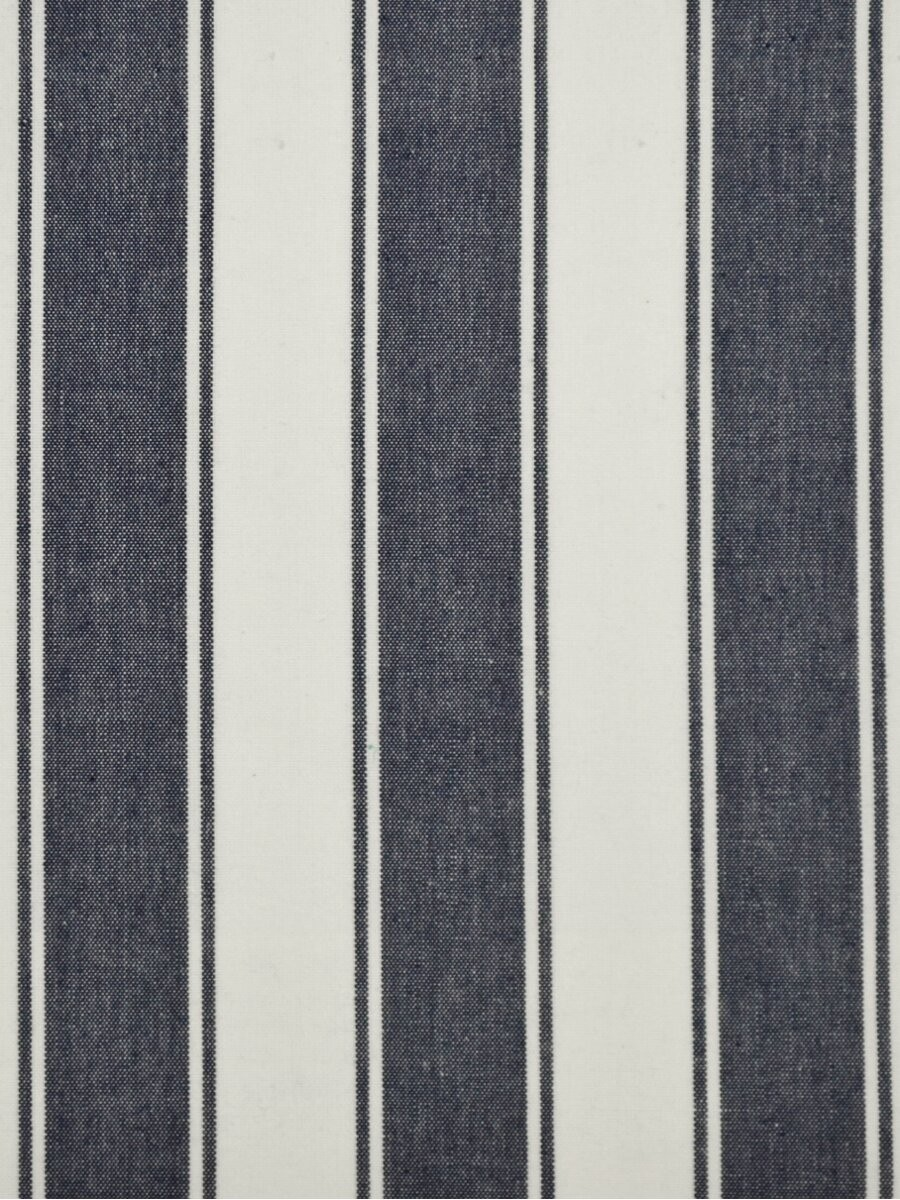 Blue and white striped grommet curtains curtain for Blue and white drapery panels