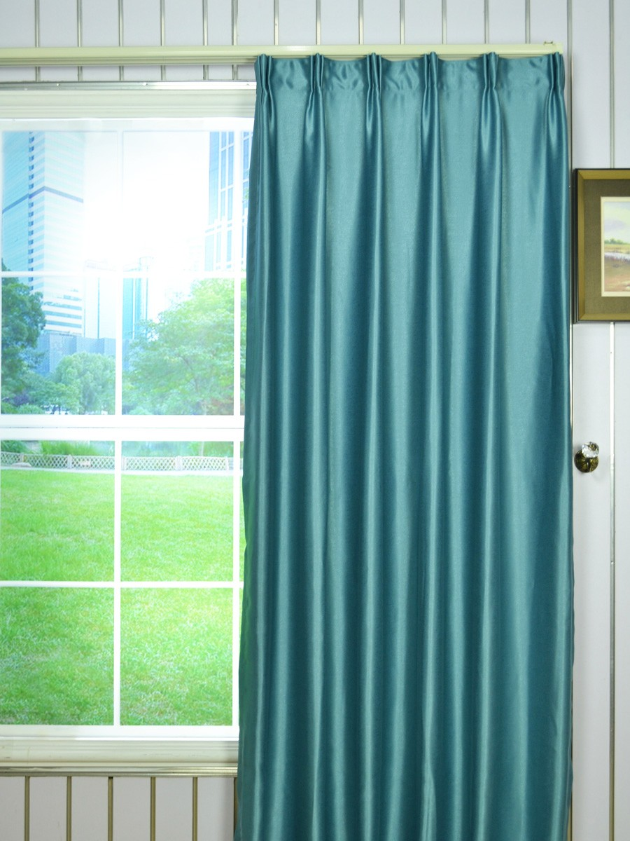 extra wide swan gray and blue solid versatile pleat curtains 100 inch 120 inch. Black Bedroom Furniture Sets. Home Design Ideas