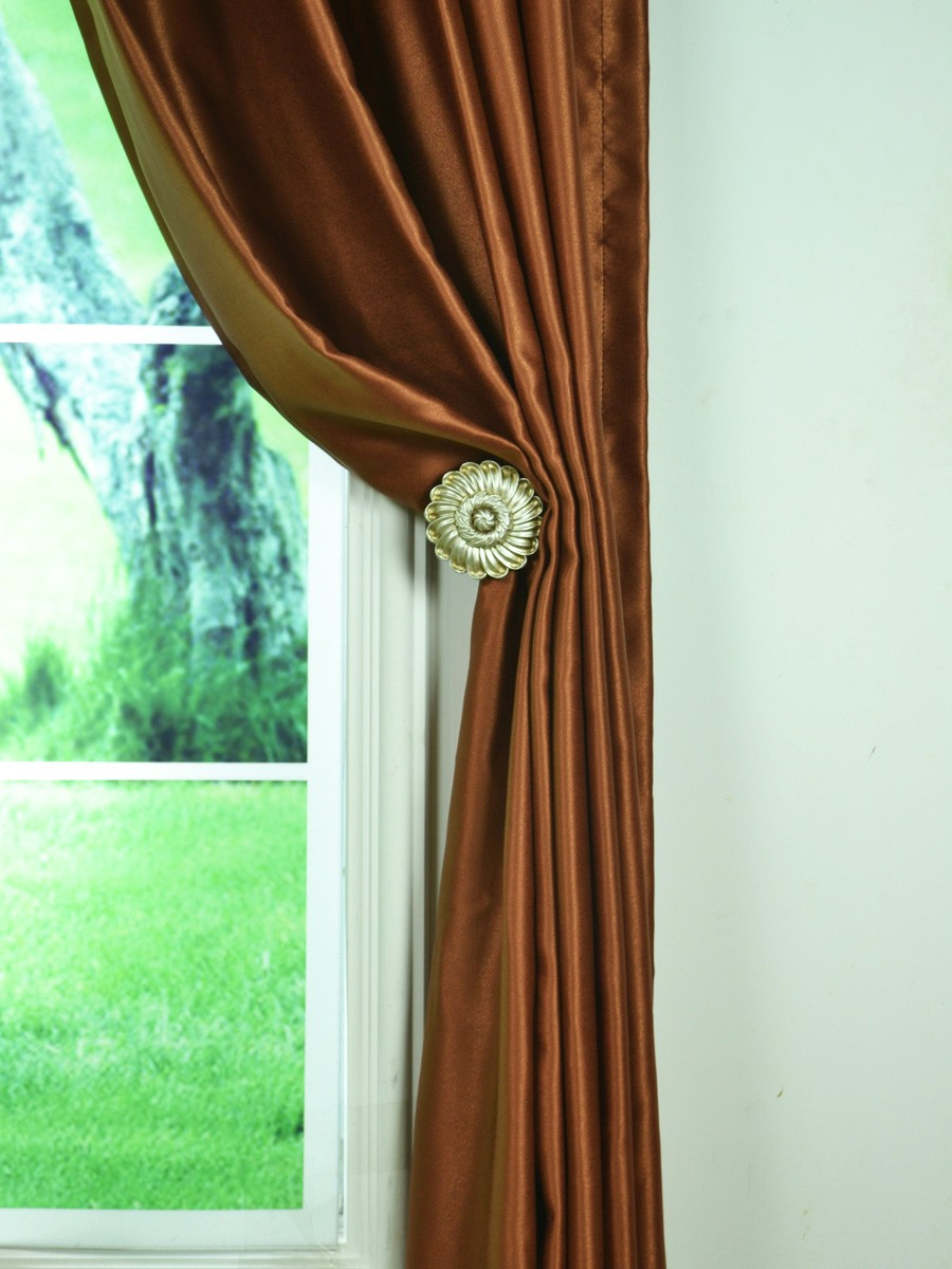 Extra Wide Swan Brown Solid Grommet Curtains 100 Inch