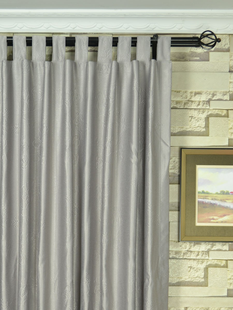 Extra Wide Swan Medium Scale Floral Tab Top Curtains 100 Inch 120 Inch Panels