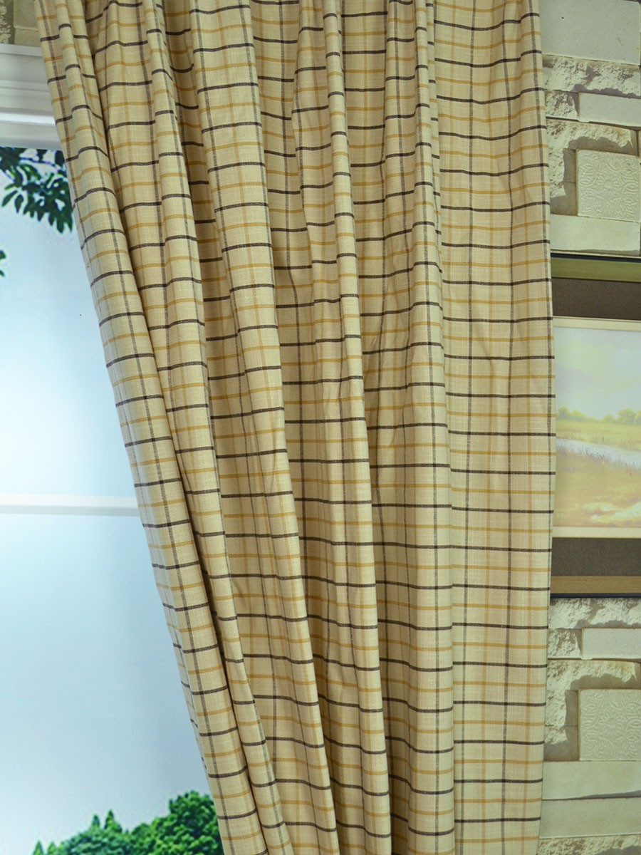 Extra Wide Hudson Small Plaid Versatile Pleat Curtains 100