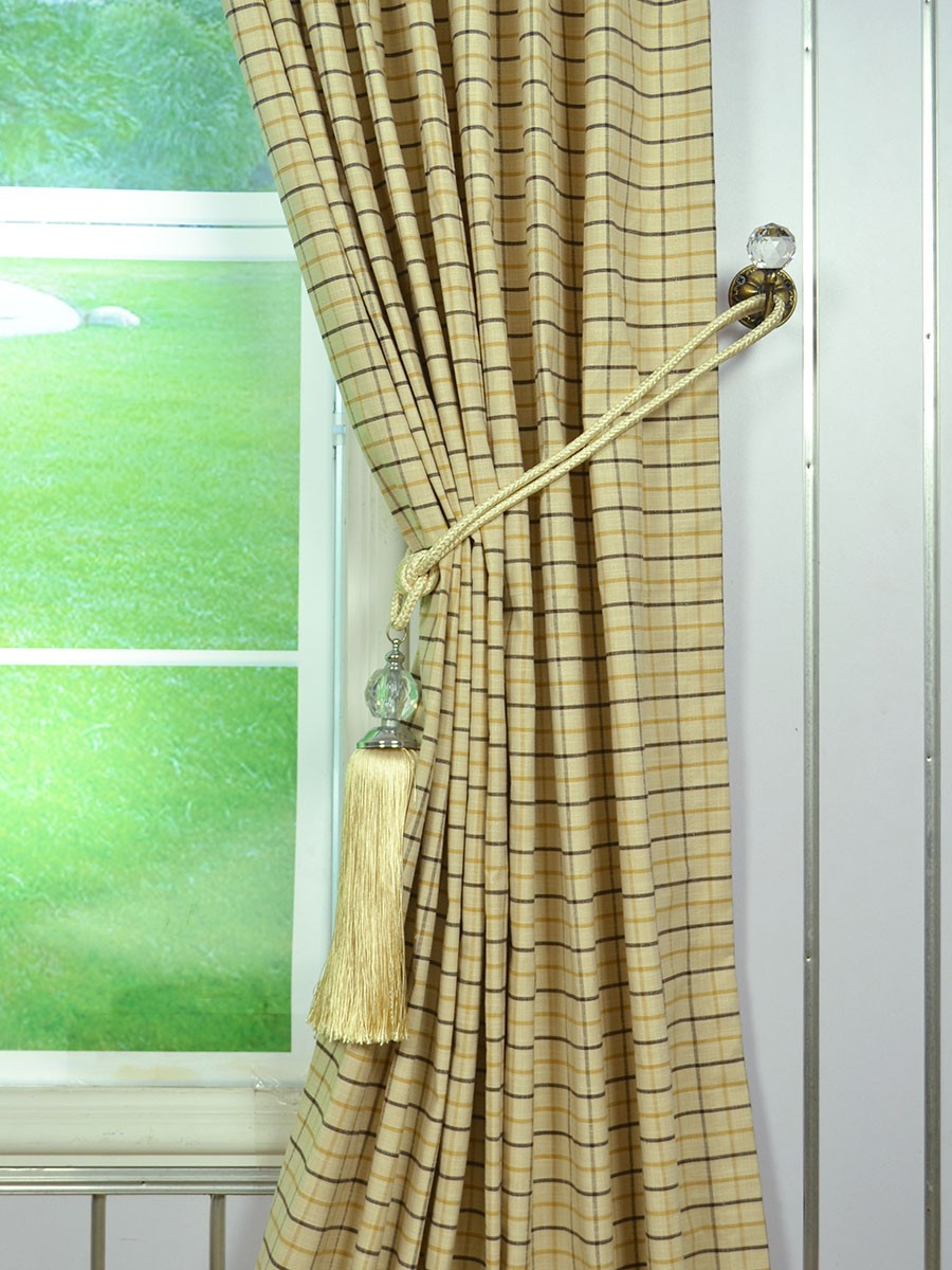 ... Wide Hudson Small Plaid Tab Top Curtains 100 Inch - 120 Inch Curtains