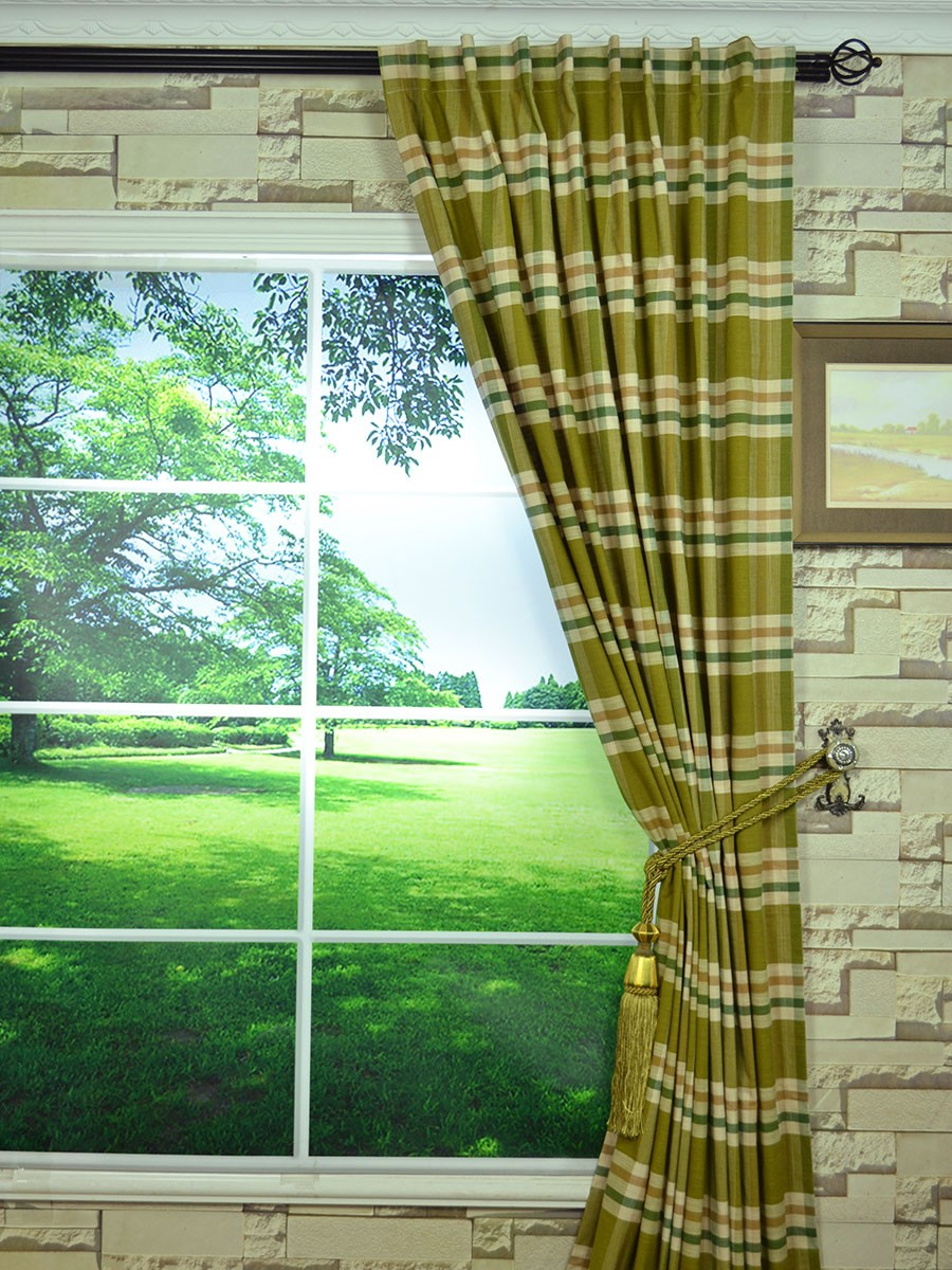 extra wide hudson large plaid back tab curtains 100 120 inch curtain panels. Black Bedroom Furniture Sets. Home Design Ideas