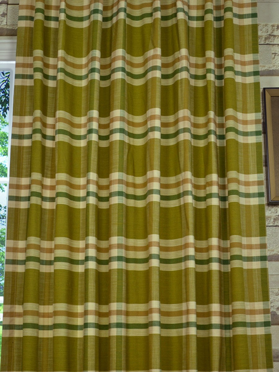 Extra Wide Hudson Large Plaid Back Tab Curtains 100 120 Inch Curtain Panels