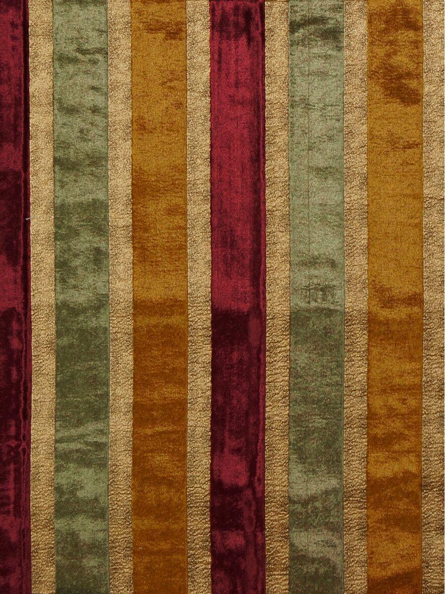 Maia luxurious stripe velvet custom made curtains for Velvet material for curtains