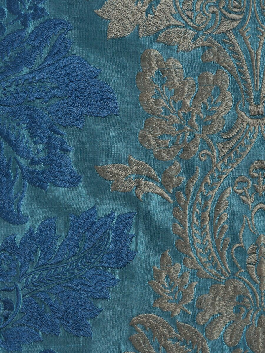 Halo Embroidered Vase Damask Fabric Sample