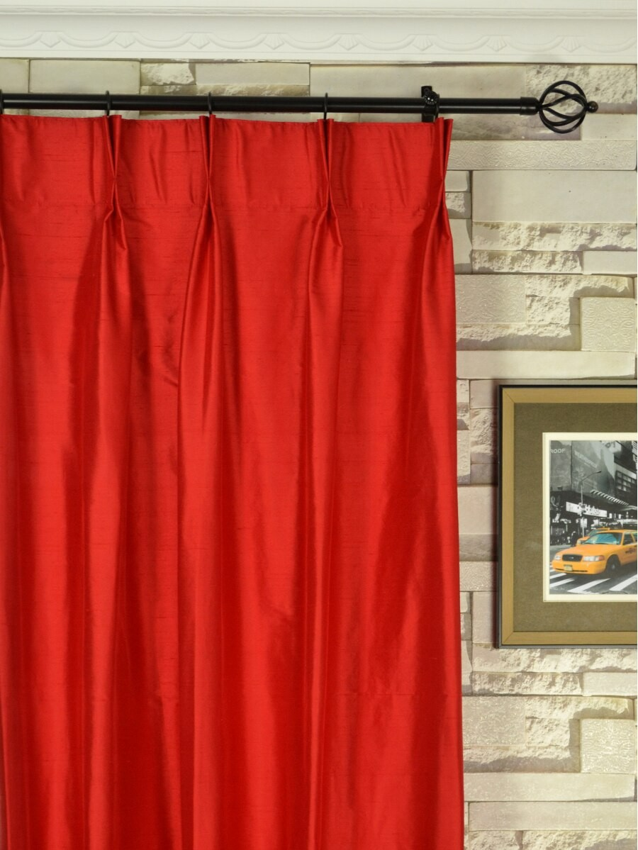 ... Oasis Solid-color Double Pinch Pleat Dupioni Curtains Heading Style  Oasis Solid-color Double Pinch Pleat Dupioni Curtains Heading Style ...