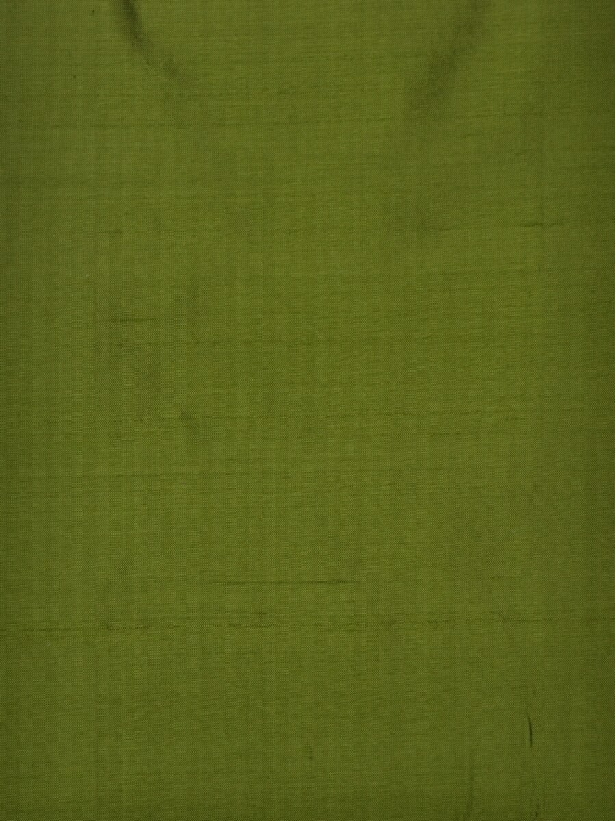 Oasis Solid Green Dupioni Silk Custom Made Curtains