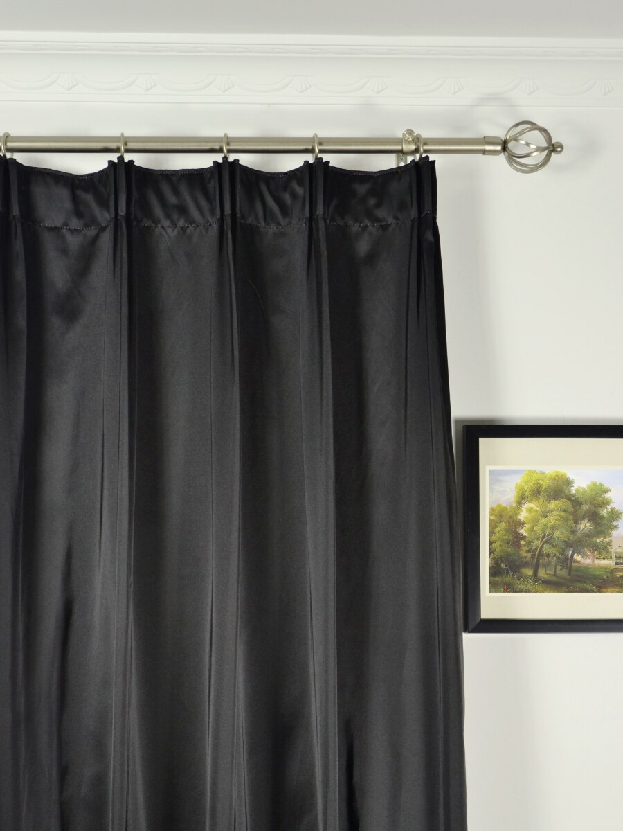 ... Waterfall Dark-colored Plain Versatile Pleat Faux Silk Curtains Heading  Style Waterfall Dark-colored Plain Versatile Pleat Faux Silk Curtains  Heading ...