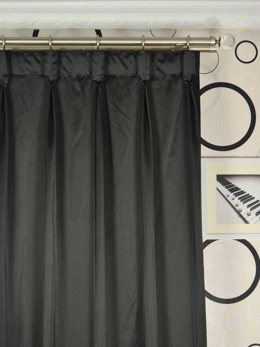 Waterfall Dark-colored Plain Goblet Faux Silk Curtains for Goblet Curtains  183qdu