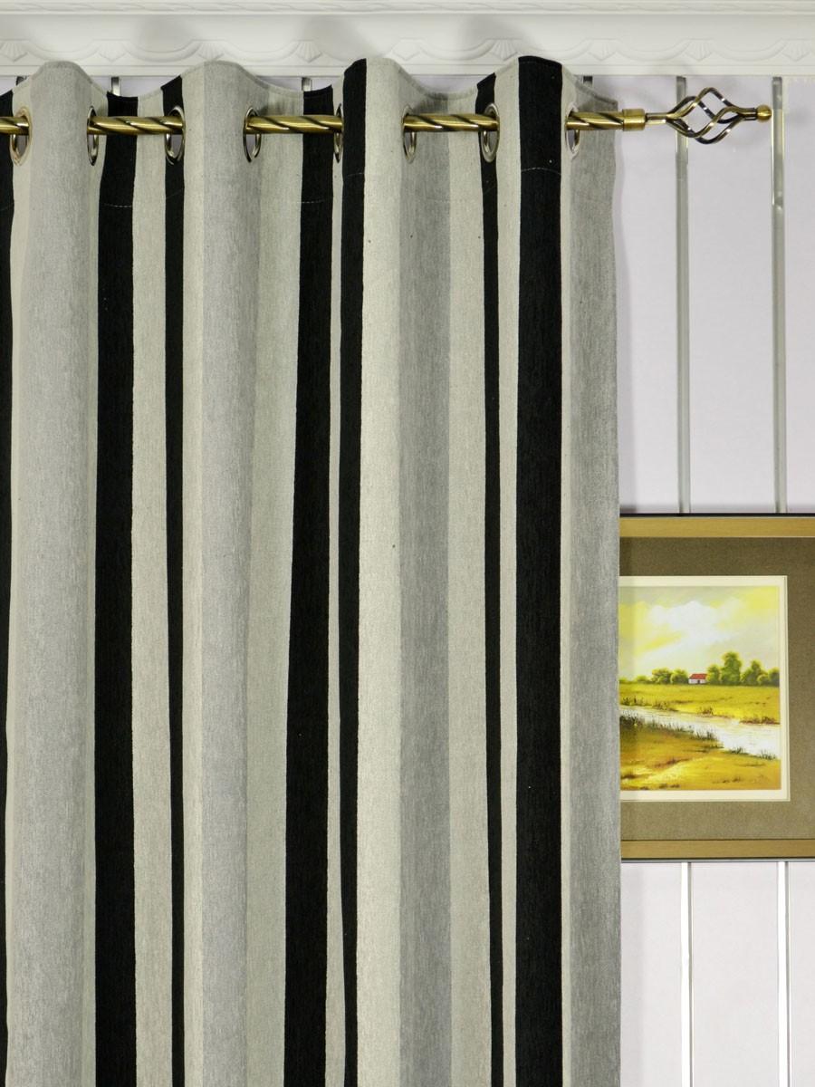petrel vertical stripe grommet chenille curtains. Black Bedroom Furniture Sets. Home Design Ideas