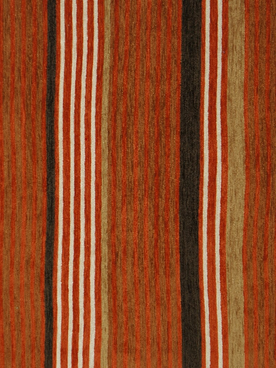 Petrel Heavy Weight Stripe Back Tab Chenille Curtains