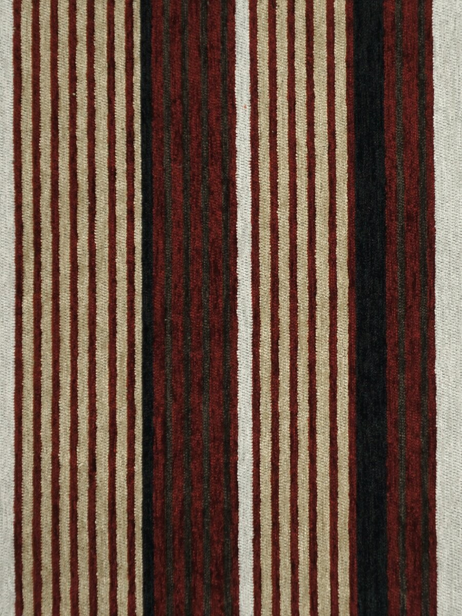 Petrel Heavy Weight Stripe Grommet Chenille Curtains
