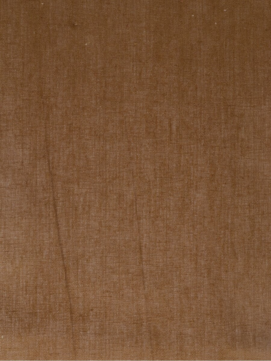 Eos Brown Solid Linen Fabrics Per Yard
