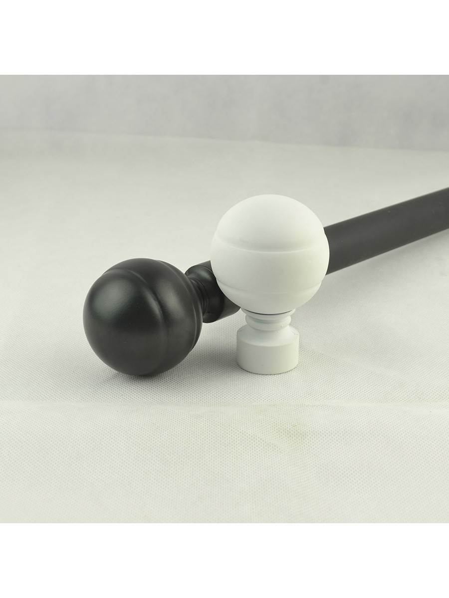 1 1 8 Quot Ball Finial Steel Double Curtain Rod Set Custom