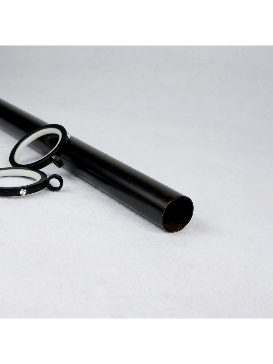 Qyt1320 1 Quot Steel Single Curtain Rod Set Crystal