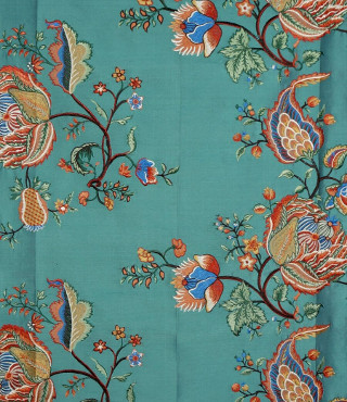 Embroidered Silk