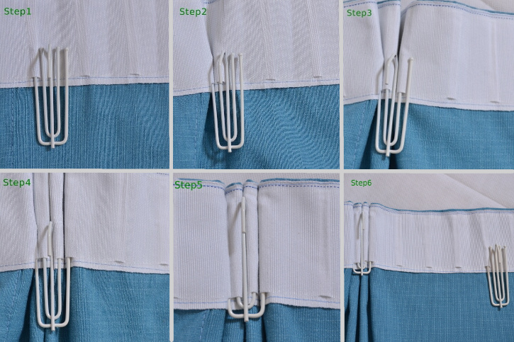 goblet pleat drapes instructions